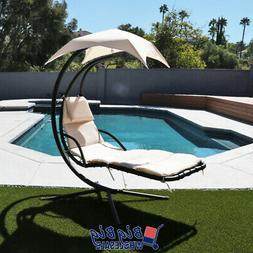 Hammock Chair Hanging Lounge Chaise Outdoor Porch Patio Cano