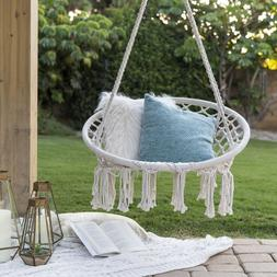 Hammock Rope Handmade Chair Hanging Outdoor Swing All Best C