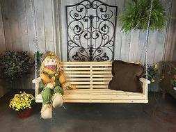 Hand made in the USA 5 Ft Traditional Pine Porch Swings! Sum