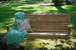 Handmade Amish Crafted Grandpa Cypress Lumber Roll Back Porc
