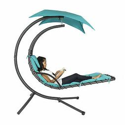 Hanging Chaise Lounger Arc Stand Air Porch Swing Hammock Cha