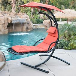 BELLEZZA Hanging Chaise Lounger Chair Arc Stand Air Porch Sw