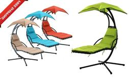 hanging chaise lounger chair arc stand porch