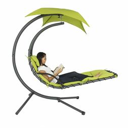 Hanging Chaise Lounger Chair Arc Stand Porch Swing Hammock C