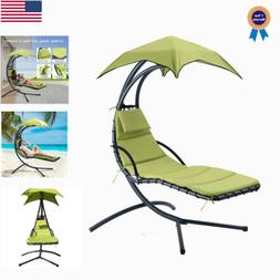 Hanging Chaise Lounger Chairs Arc Stand Porch Patio Swing Ha