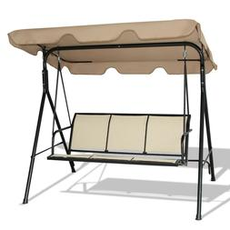 Outdoor Canopy Swing Patio Chair Lounge 3 Person Seat Hammoc