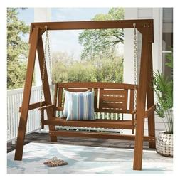 Hanging Porch Swing With Stand Garden Outdoor Swings Two Sea