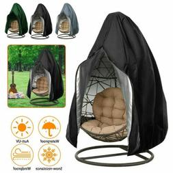 Hanging Swing Egg Chair Dust Cover Garden Patio Wind Proof W