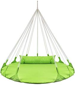 Sorbus Hanging Swing Nest with Pillow, Double Hammock Daybed