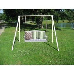 Hanging Wood Porch Swing w/ Stand Outdoor Home Furniture Poo
