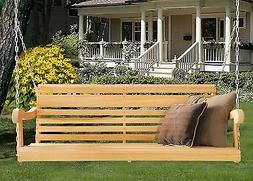 Home Outdoor 5 Ft Scandinavian Grandpa Porch Swing Rot-Resis