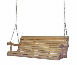 Home Outdoor 5Ft Cypress Lumber Roll Back Grandpa Porch Swin