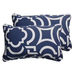 Pillow Perfect Indoor/Outdoor Carmody Corded Rectangular Thr