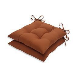 Pillow Perfect Outdoor Cinnabar Tufted Seat Cushion, Burnt O