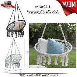 Indoor Outdoor Hanging Cotton Macrame Rope C Hammock Lounge