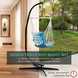 Best Choice Products Indoor Outdoor Padded Cotton Hammock Ha