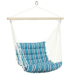 indoor outdoor padded cotton hammock hanging chair