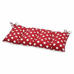 Pillow Perfect Indoor/Outdoor Polka Dot Red Swing/Bench Cush
