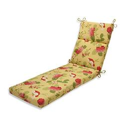 Pillow Perfect Indoor/Outdoor Risa Chaise Lounge Cushion, Le