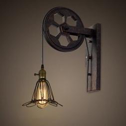 "LITFAD Industrial Vintage Adjustable 7.48"" Wide Wall Sconce"