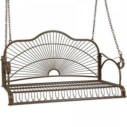 Best Choice Products Hanging Iron Porch Swing Outdoor Patio