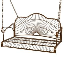 Iron Patio Hanging Porch Swing Chair Bench Seat Outdoor Furn