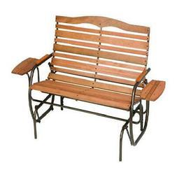 Jack Post Glider Outdoor Wood Bench Patio Rocker Chair Seat