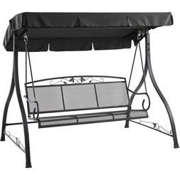 jefferson 3 person outdoor canopy porch swing