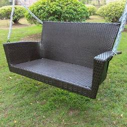 Kingston Contemporary Resin Wicker Porch Swing