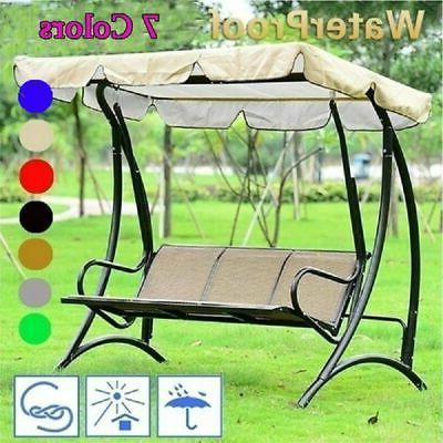 Outdoor Porch Canopy Hammock 3-Person Seat