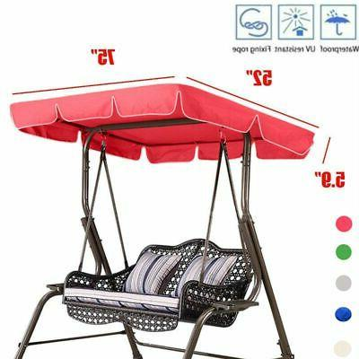 Outdoor Porch Swing Canopy Chair Lounge 3-Person Seat
