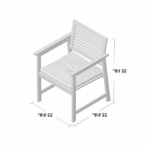 Patio Pc Garden Wood Outdoor Cushion Seat Furniture