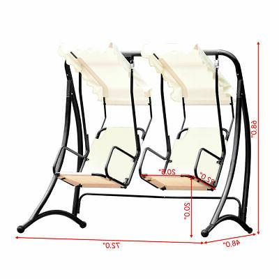 2 Person Porch Swing Patio Loveseat Swing