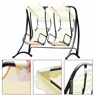 2 Person Hammock Swing Patio Hanging Loveseat Glider