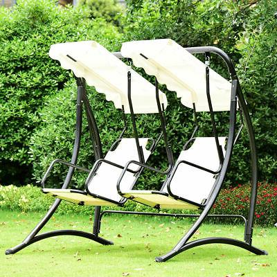 2 Person Hammock Swing Patio Outdoor Loveseat Canopy