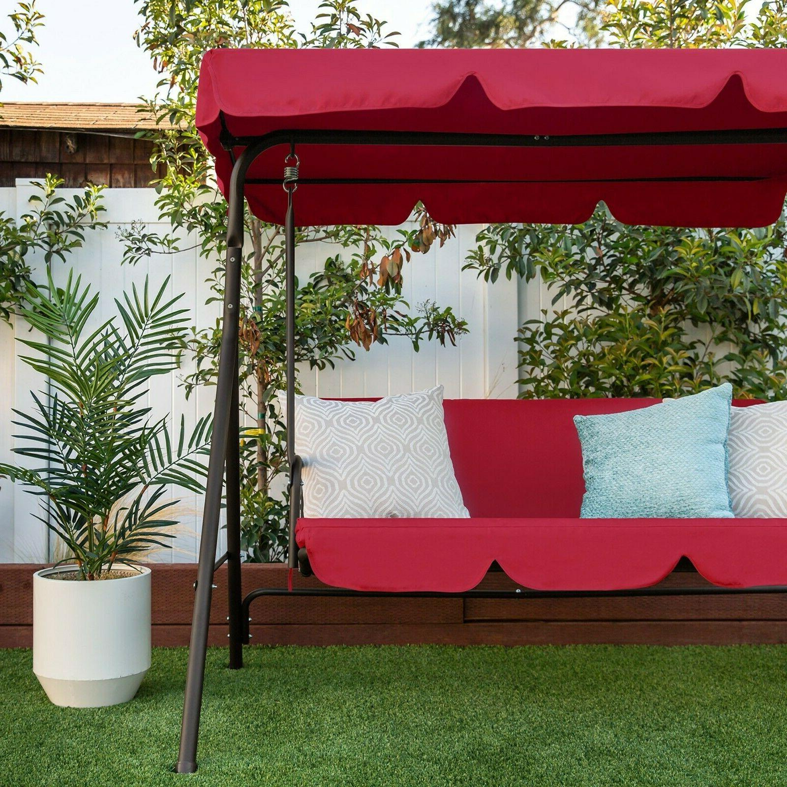 2 Outdoor Canopy Swing Furniture Porch Bench Cushions