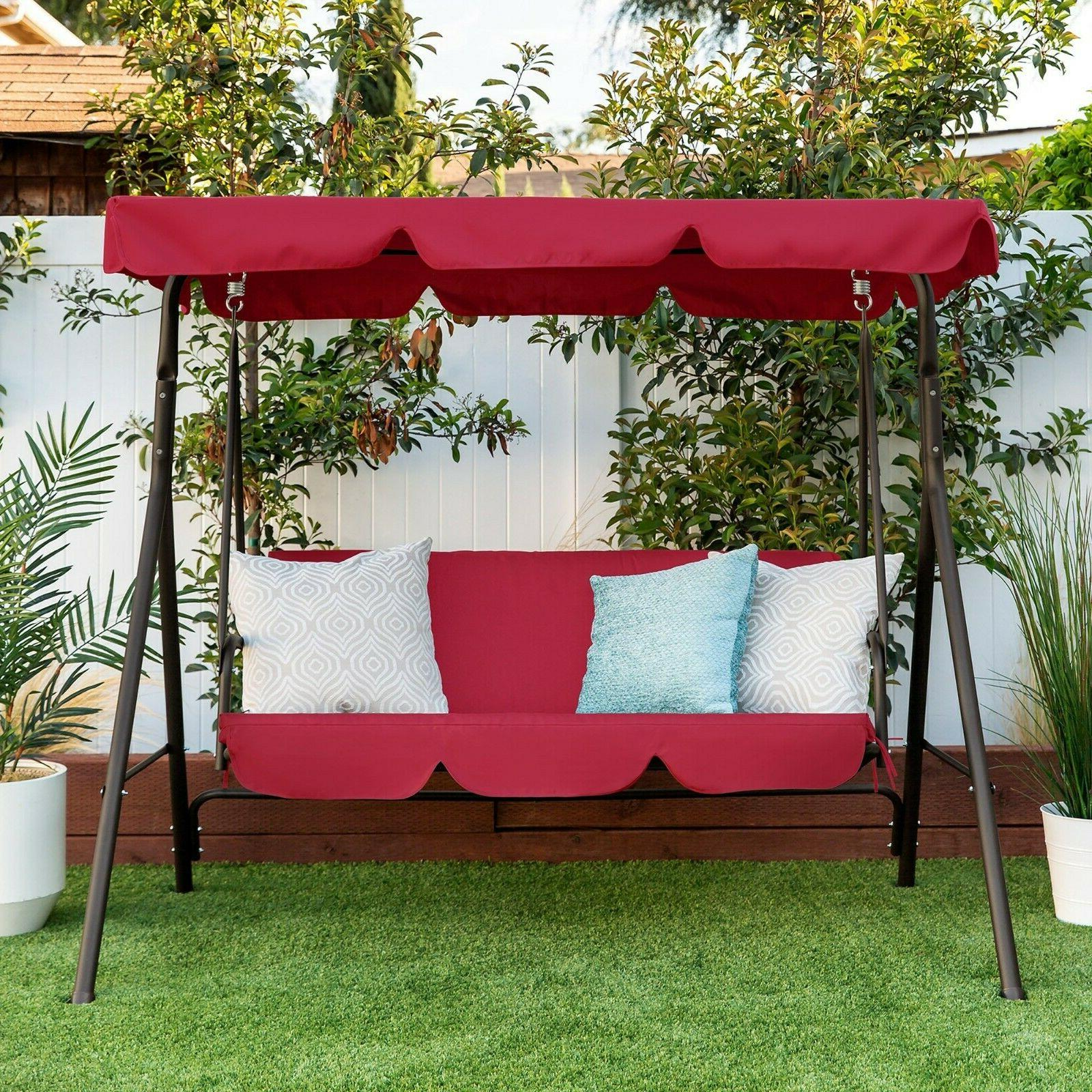 2 person outdoor canopy swing glider furniture