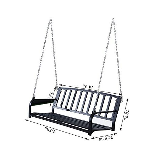"Outsunny 50"" Weather Resistant Porch Swing Black"