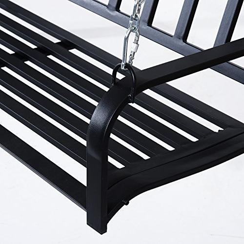 Outsunny Weather Outdoor Porch Bench Black