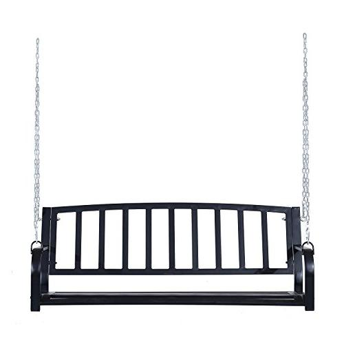 Outsunny Weather Resistant Steel Porch Black