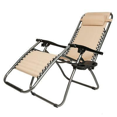 Gravity Lounge Chairs+Utility Tray Outdoor