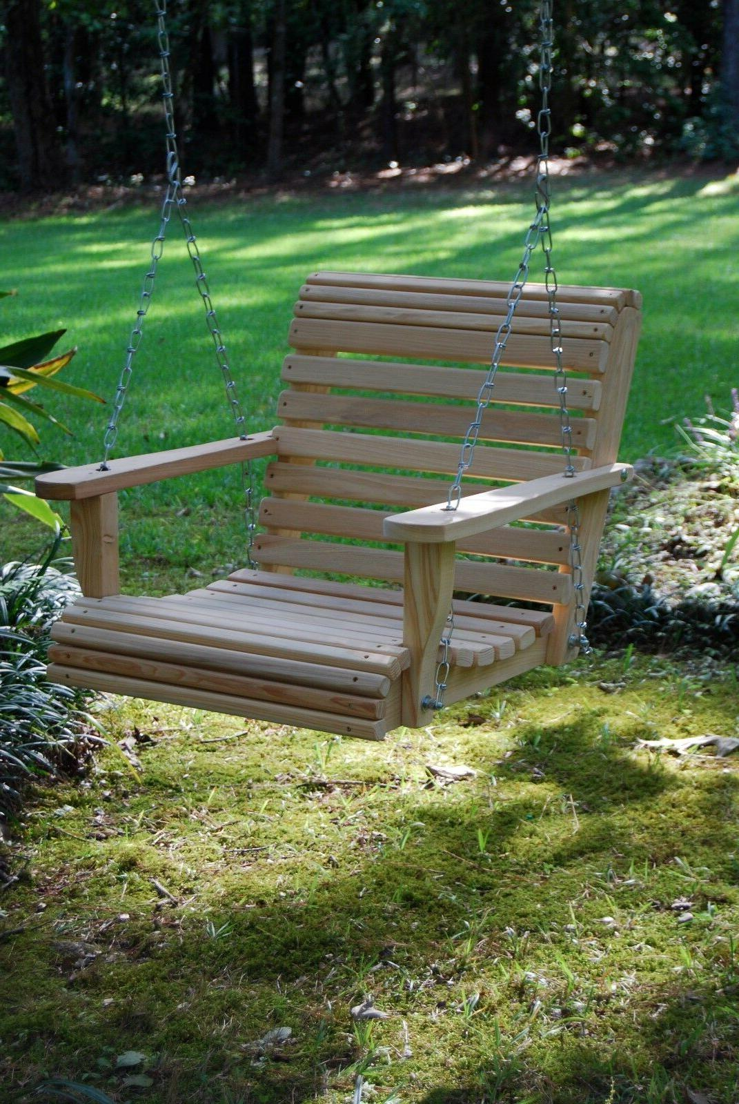 2ft Cypress Roll Contoured Seat Tree Yard Swing In