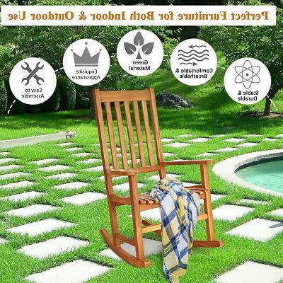 2PCS Wood Garden Seat Outdoor Teak