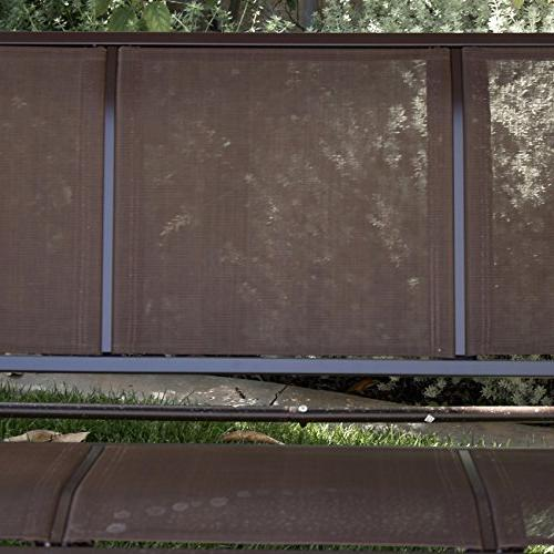 Belleze Porch Outdoor Tilt UV Frame Sunshade Dark