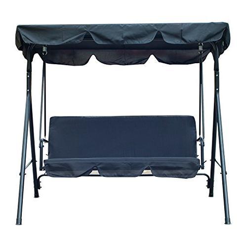 Outsunny Canopy Porch Black