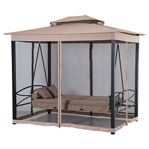 Outsunny Person Outdoor Patio Gazebo with Resistant and Mesh Walls