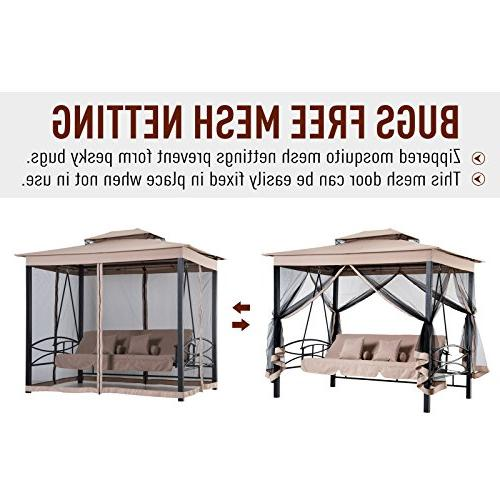 Outsunny Patio Gazebo Swing with and