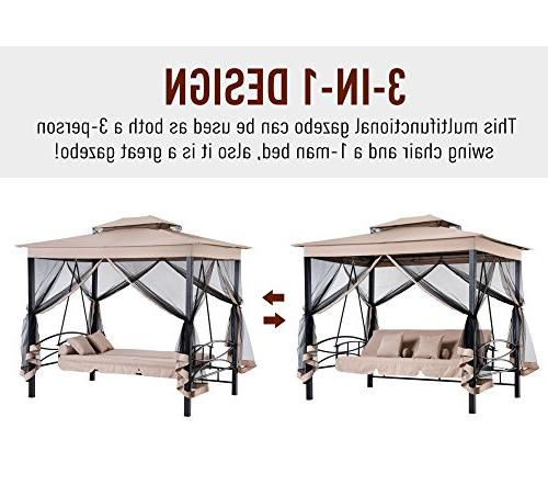 Outsunny Person Patio Gazebo with UV Resistant Canopy