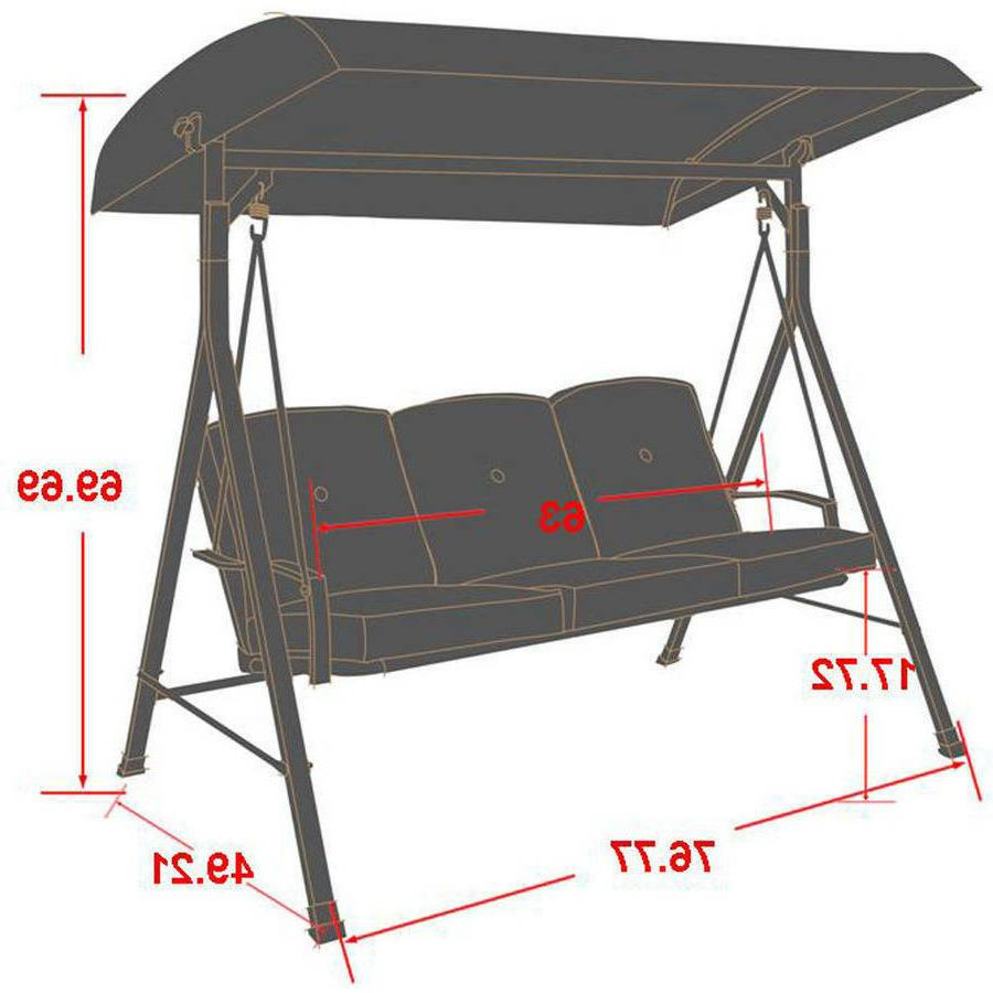 Red Cushion Seat 3 Patio Canopy New
