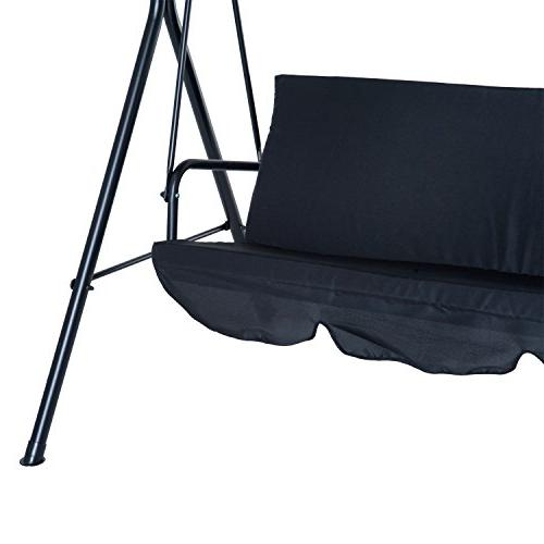 Outsunny Outdoor Porch Swing Canopy Black